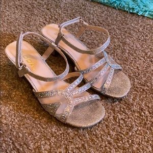 Sparkly girls heels, worn for 2 hours, size 2.5